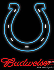 Budweiser Indianapolis Colts NFL Real Neon Glass Tube Neon Sign