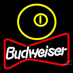 Budweiser Pool Bowtie Neon Sign