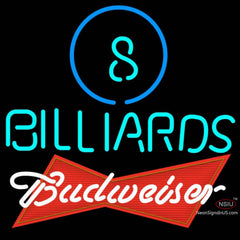 Budweiser Red Ball Billiards Pool Neon Sign  7