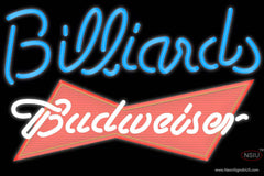 Budweiser Red Billiards Text Pool Real Neon Glass Tube Neon Sign