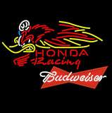 Budweiser Red Honda Racing Woody Woodpecker Crf 250 450 Motorcycle Neon Sign