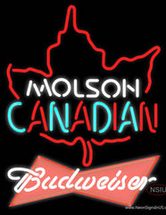 Budweiser Red Molson Leaf Hockey Real Neon Glass Tube Neon Sign