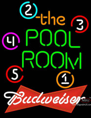 Budweiser Red Pool Room Billiards Neon Sign