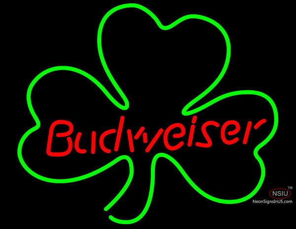 Budweiser Shamrock Neon Beer Sign