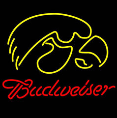 Budweiser University Of Iowa Neon Sign Giant