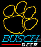 Busch Beer Clemson UNIVERSITY Tiger Print Neon Sign