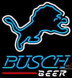 Busch Beer Detroit Lions NFL Neon Sign