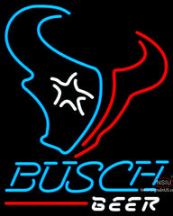 Busch Beer Houston Texans NFL Neon Sign