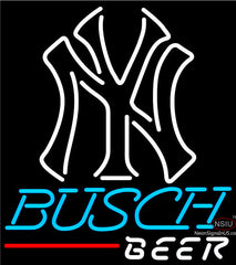 Busch Beer New York NY MLB Neon Sign
