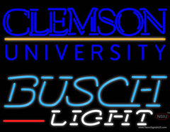 Busch Light Clemson UNIVERSITY Real Neon Glass Tube Neon Sign