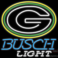 Busch Light Green Bay Packers NFL Real Neon Glass Tube Neon Sign   x