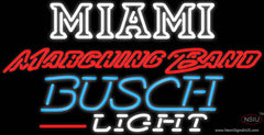 Busch Light Miami UNIVERSITY Band Board Real Neon Glass Tube Neon Sign