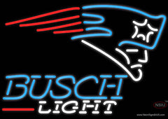Busch Light New England Patriots NFL Real Neon Glass Tube Neon Sign  7