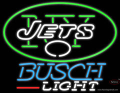 Busch Light New York Jets NFL Real Neon Glass Tube Neon Sign  7
