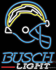 Busch Light San Diego Chargers NFL Real Neon Glass Tube Neon Sign