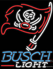 Busch Light Tampa Bay Buccaneers NFL Real Neon Glass Tube Neon Sign