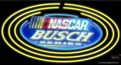 Busch Nascar Oval Neon Beer Sign