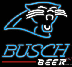 Busch Neon Carolina Panthers NFL Real Neon Glass Tube Neon Sign  7