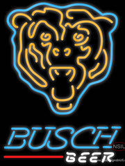 Busch Neon Chicago Bears NFL Real Neon Glass Tube Neon Sign 7
