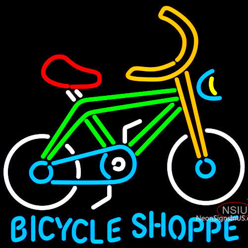 Bicycle Shoppe Neon Sign x