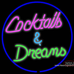 Cocktails Dreams Real Neon Glass Tube Neon Sign x