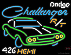 Challenger Dodge  Hemi Real Neon Glass Tube Neon Sign