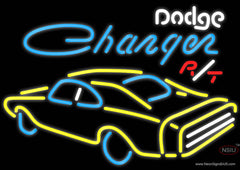 Challenger Dodge Rt Real Neon Glass Tube Neon Sign