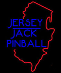 Custom Jersey Jack Pinball Real Neon Glass Tube Neon Sign