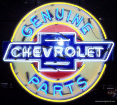 Chevrolet Genuine Parts Real Neon Glass Tube Neon Sign