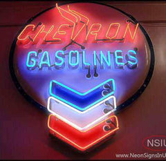 Chevron Gasoline Neon Sign