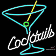 Cocktail Martini Glass Real Neon Glass Tube Neon Sign