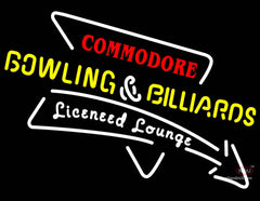 Commodore Bowling And Billiards Sign