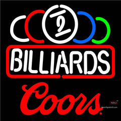 Coors Ball Billiard Text Pool Neon Beer Sign   x