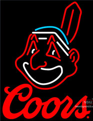 Coors Cleveland Indians MLB Neon Sign