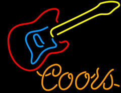Coors Guitar Neon Beer Sign
