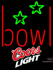 Coors Light Bowling Alley Neon Sign