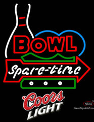 Coors Light Bowling Bowl Spare Time Neon Sign