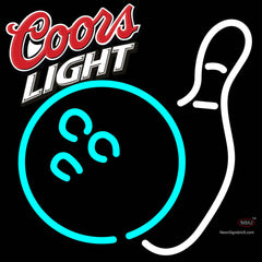 Coors Light Bowling Neon White Sign   x