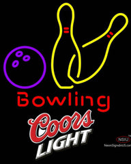 Coors Light Bowling Neon Yellow Signs