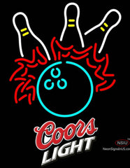 Coors Light Bowling Pool Neon Beer Sign