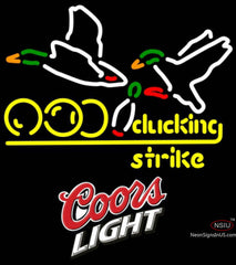 Coors Light Bowling Sucking Strike Neon Sign