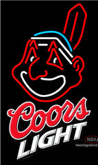 Coors Light Cleveland Indians MLB Neon Sign