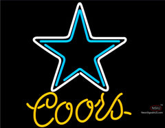 Coors Light Dallas Cowboys NFL Neon Sign