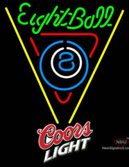 Coors Light Eight Ball Billiards Pool Neon Beer Sign