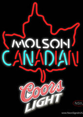 Coors Light Molson Leaf Hockey Real Neon Glass Tube Neon Sign