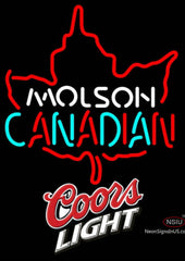 Coors Light Molson Leaf Hockey Neon Sign