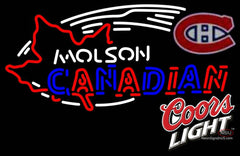 Coors Light Molson Montreal Canadians Hockey Neon Sign