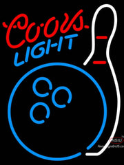 Coors Light Neon Bowling Neon Blue White Neon Sign  7