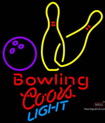 Coors Light Neon Bowling Neon Yellow Signs
