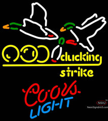 Coors Light Neon Bowling Sucking Strike Neon Sign